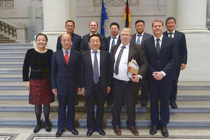 Die chinesische Delegation besucht den Bundesrat in Berlin