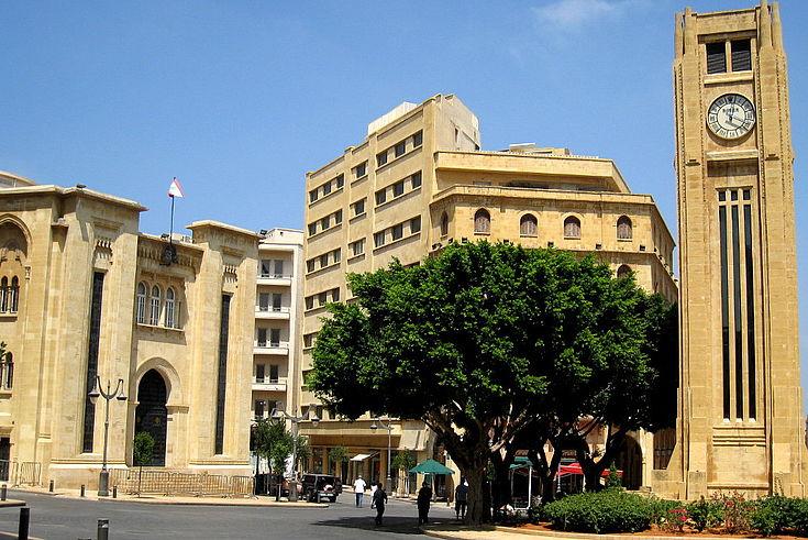 Platz vor dem Parlament in Beirut