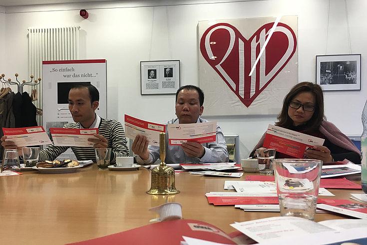 Vorstellung und fachliche Diskussion zu Migrationsförderprogrammen beim Landesverband der Arbeiterwolhfahrt in Berlin