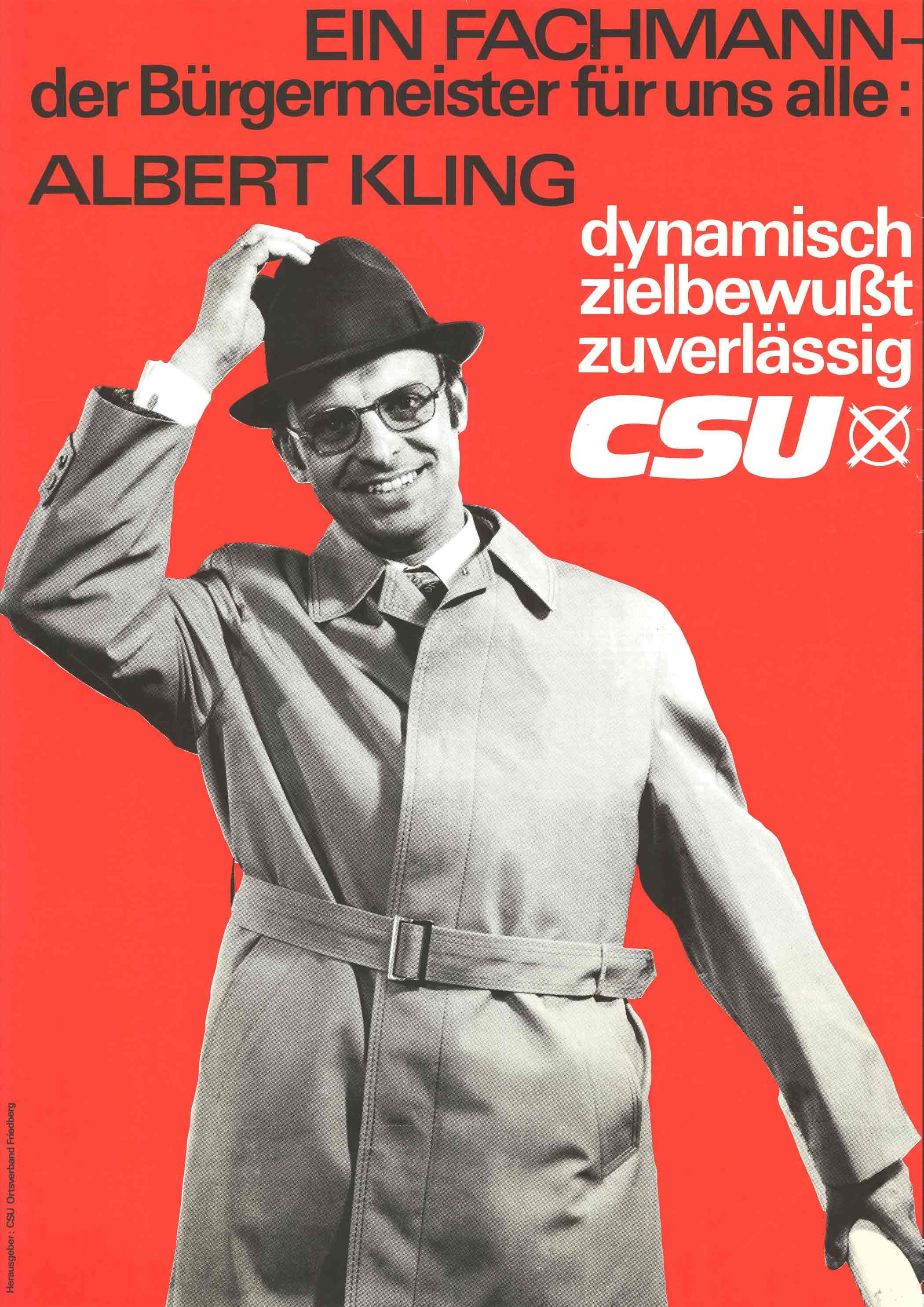 Plakat zur Kommunalwahl 1966