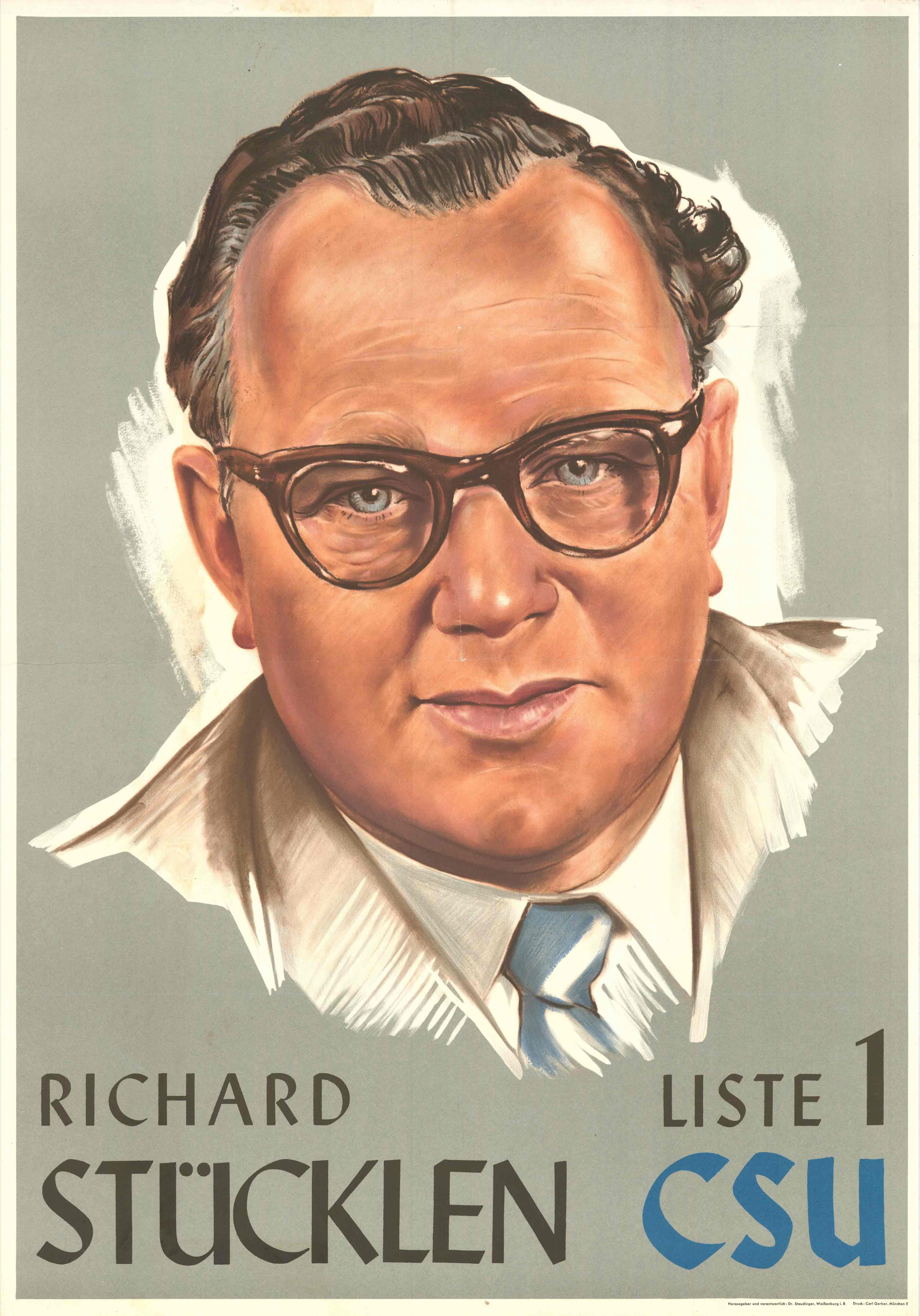 Plakat zur Bundestagswahl 1957