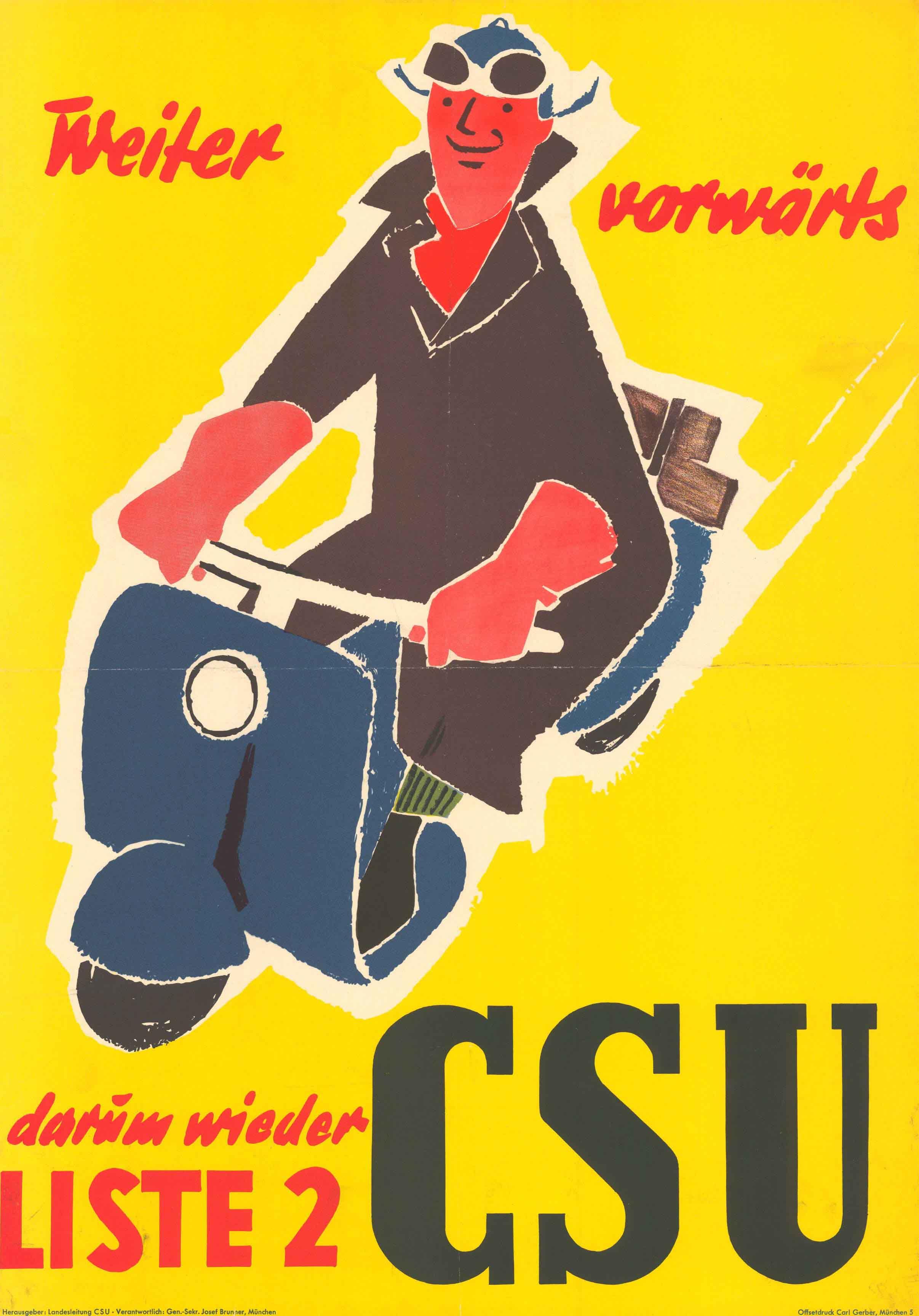 Plakat zur Landtagswahl 1954