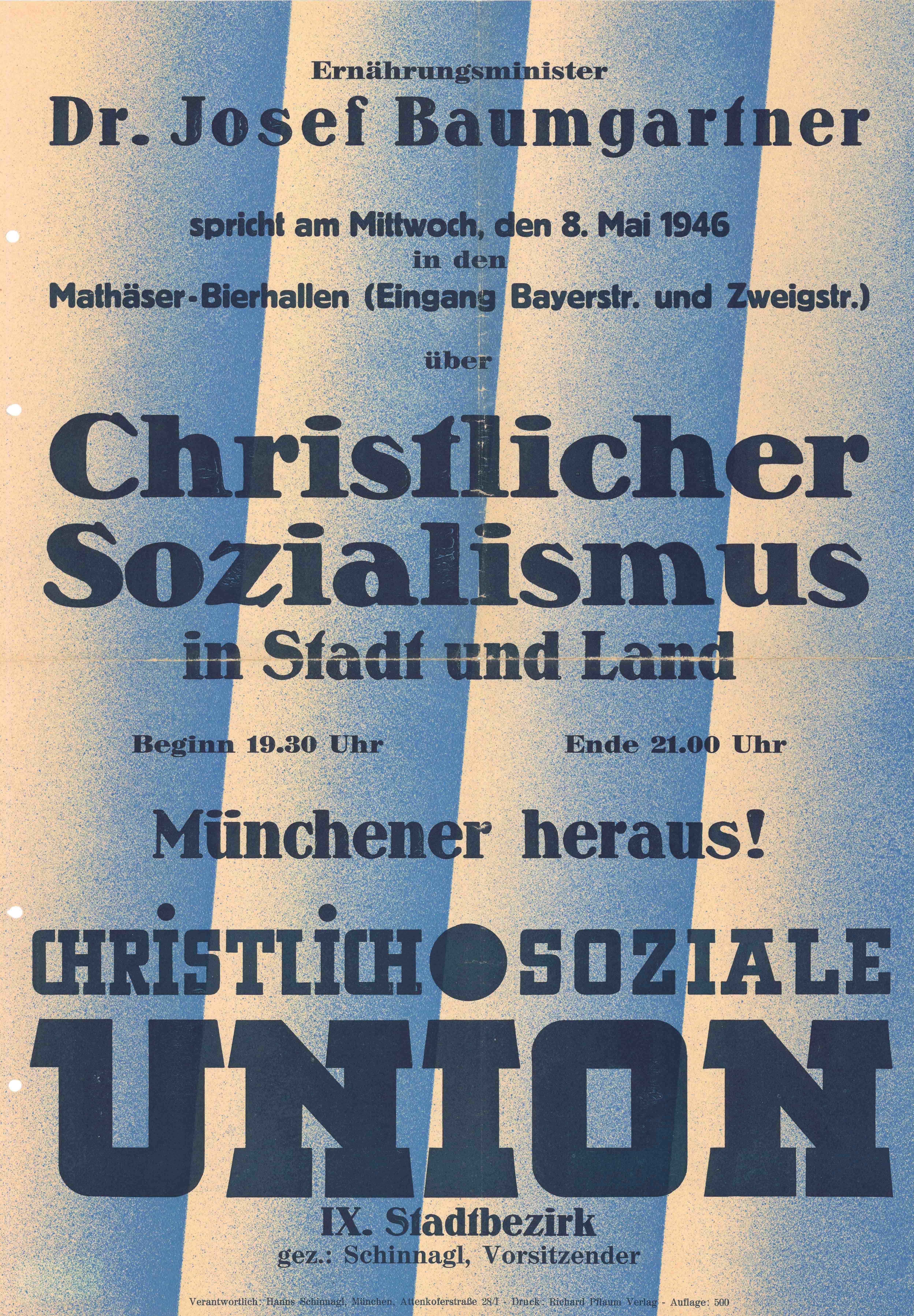 Plakat zur Kommunalwahl 1946