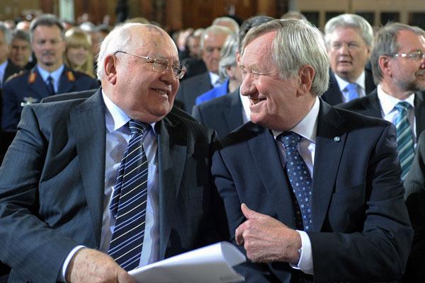 Michail Gorbatschow und Hans Zehetmair