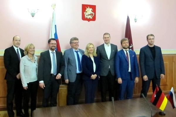 In der Duma der Stadt Moskau mit Kirill Schitow, Leonid Sjuganow und Anton Paleew