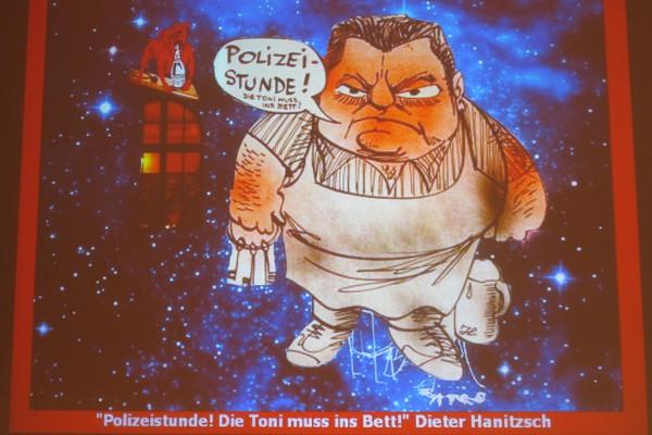 FJS in einer Karikatur von Dieter Hanitzsch