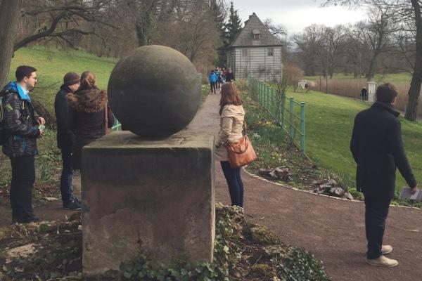 Garten des Goethehauses im Ilmpark