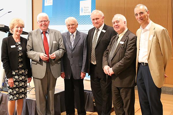 Michael Wolffsohn, Bassam Tibi, Josef Kraus, Reiner Kunze, Heinrich Oberreuter, Paula Bodensteiner (v.r.n.l.)