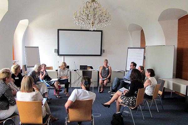 Gruppenarbeit in den Workshops