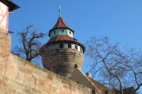 Wahrzeichen Nürnbergs: Die Burg (Detail)