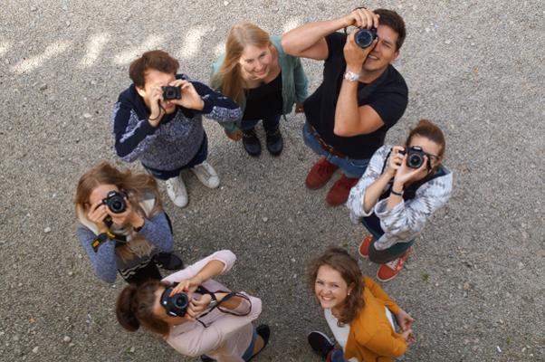 Kreativität ist gefragt: das Gruppenfoto