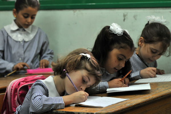 UNRWA unterrichtet mehr als 500.000 Kinder in eigenen Schulen. (UNRWA-Foto von Shareef Sarhan)