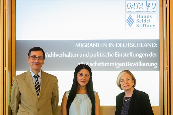 Gerhard Hirscher, Umut Karakas und Ursula Männle