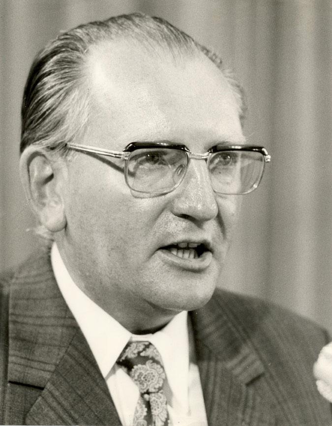 Fritz Pirkl (CSU, 1925-1993) war von 1967 bis 1993 Vorsitzender der Hanns-Seidel-Stiftung.