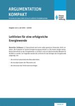 Leitlinien für eine erfolgreiche Energiewende