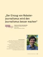 Der Einzug von Roboterjournalismus wird den Journalismus besser machen