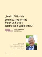 Die EU fühlt sich dem Gedanken eines freien und fairen Welthandels verpflichtet